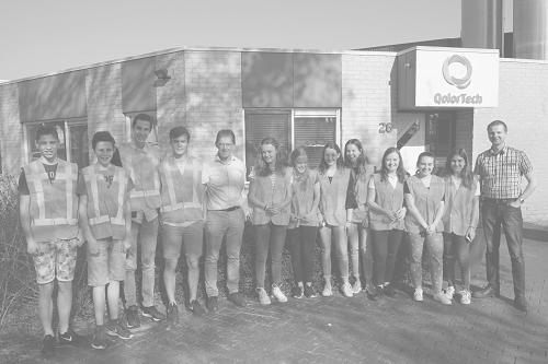 Leerlingen bezoeken QolorTech tijdens het Cleantech Tomorrow event